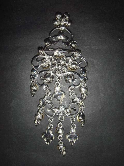 Bridal Crystal Chandelier Rhinestone Brooch pin PI149