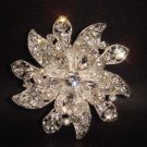 Bridal cake topper Crystal Rhinestone Brooch pin PI139