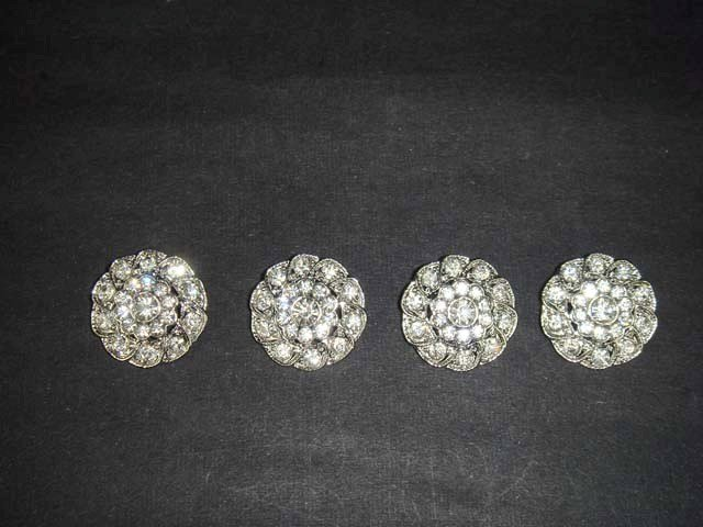 4 sew Crystal Dress Rhinestone clasp hook button BN21