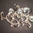 Bridal butterfly crystal Rhinestone Brooch pin PI482