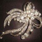 Bridal Rhinestone Vintage style Bling Brooch pin PI371