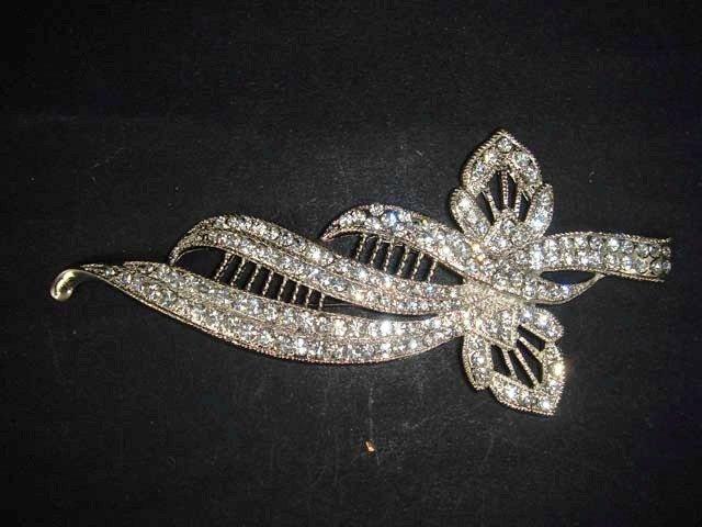 Bridal dress cake decorate Rhinestone Brooch pin PI500