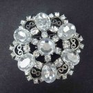 Bridal cake topper BLING Rhinestone Brooch pin PI440