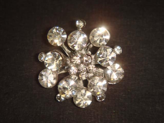 "0.8 "" 4 pcs crystal repair Dress Rhinestone clasp hook button BN28"