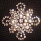 Bridal cake dress rhombus Rhinestone Brooch pin PI425