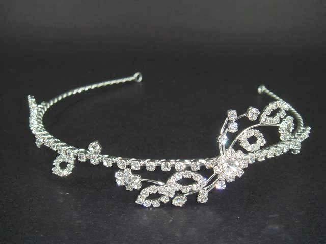 Bridal Flower Crystal Rhinestone Headband Tiara HR40