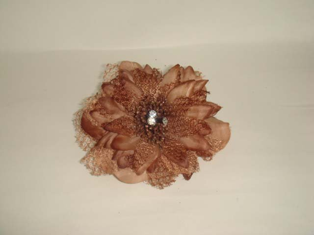 Bridal silk flower Hair Fascinator brooch clip BA151