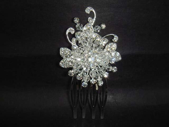 Bridal Rhinestone Crystal Wedding Hair tiara Comb RB27A