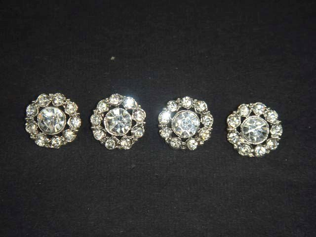 4 sewing Crystal  Rhinestone clasp hook button BN17