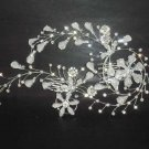 Bridal Rhinestone crystal flower Hair tiara Comb RB338