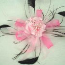Bridal Feather Fascinator hair flower brooch clip BA111