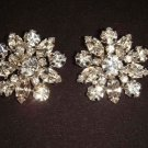 2 pc Bridal dress crystal sewing Rhinestone button BN1
