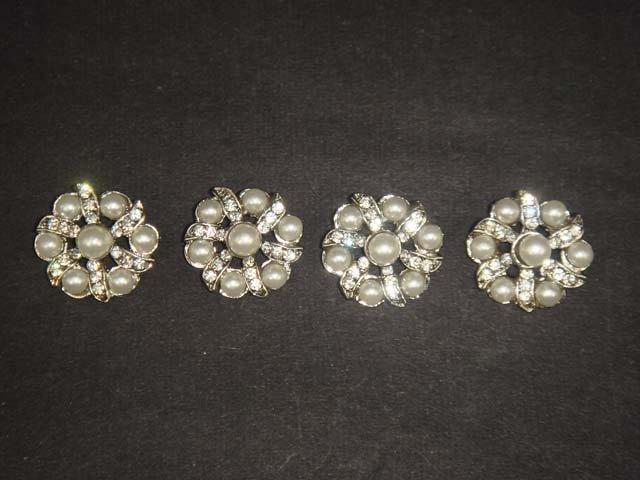 4 sewing Crystal  Rhinestone clasp hook button BN15