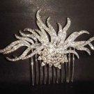 Bridal Rhinestone Flower Vintage style crystal hair tiara comb RB326