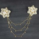 Vintage style Rhinestone Scarf Sweater chain clip PI345