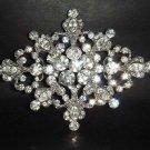 Bridal Crystal rhombus vintage style Rhinestone Brooch pin Pi171