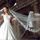 Bridal Cathedral Wedding Off White Veil 5m V03