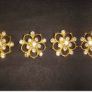 "1 "" 4 pc crystal repair Dress Gold silver tone Rhinestone clasp hook button BN29"