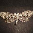 Bridal dress prom Dragonfly crystal Rhinestone Brooch pin PI508