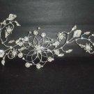 Bridal Rhinestone Headpiece headdress Flower leaf Crystal Hair tiara RB272