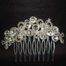 Bridal Rhinestone Faux Pearl Headpiece Headwear Hair Tiara Comb RB367