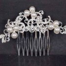 Bridal Faux pearl Headwear rhinestone headpiece hair tiara comb RB515
