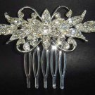 New Bridal crystal Rhinestone Headpiece Headdress Hair tiara Comb RB73