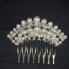 Bridal Rhinestone Faux Pearl Headpiece crystal Hair Tiara Comb RB529