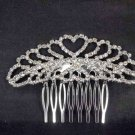 Bridal Rhinestone headdress Heart Headpiece crystal Hair tiara Comb RB507