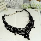 Lolita sexy gothic Crochet lace Black Choker necklace NR223