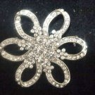 Bridal Flower crystal bling Rhinestone Brooch pin PI432
