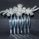 Bridal Rhinestone Headpiece crystal Crown Hair tiara Comb RB466