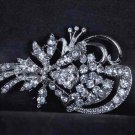 Bridal Rhinestone prom scarf dress decoration crystal Brooch pin PI557