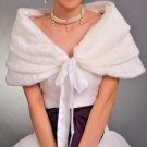 Bridal Faux Fur Shrug White Shawl Stole Wrap Cape SF111