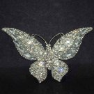 Bridal Cake topper Vintage style Crystal Butterfly Rhinestone Brooch pin PI533