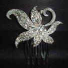 Bridal wedding crystal Rhinestone Headpiece Headdress Hair tiara Comb RB87