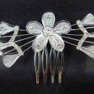 Bridal Rhinestone Flower Crystal Hair tiara Headpiece Comb RB286