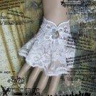 Sexy Lolita White flower Lace gothic Bracelet BR238