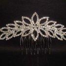 Bridal Rhinestone Headpiece Headwear Prom Crystal bling Hair tiara Comb RB387