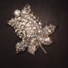 Bridal Flower Rose crystal Rhinestone Brooch pin PI475