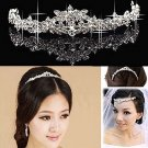 Bridal Rhinestone Crystal Prom Headdress Headpiece crown Hair tiara Comb HR175