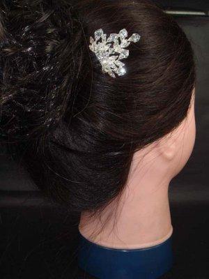 Bridal Wedding Headpiece Crystal rhinestone hair tiara comb RB11