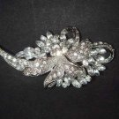 Bridal Crystal vintage style scarf prom dress Rhinestone Brooch pin PI505