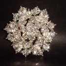 Bridal cake topper dress Rhinestone Brooch pin PI141