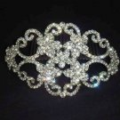 Bridal large Rhinestone Headpiece crystal Crown Hair tiara Comb RB468