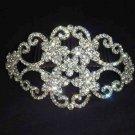 Bridal large Rhinestone Headpiece crystal Crown Hair tiara Comb RB468