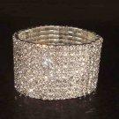 Bridal 10 row Rhinestone Crystal Bracelet Cuff BR167