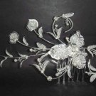 Bridal Rhinestone Flower Crystal Headpiece Headdress Hair tiara Comb RB111