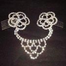 Bridal Prom Flower Headpiece headwear Crystal Rhinestone Hair tiara Comb RB525