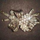 Bridal jewel Rhinestone clasp hook buckle button BU41